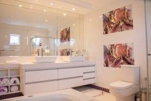 Badkamer met licht
